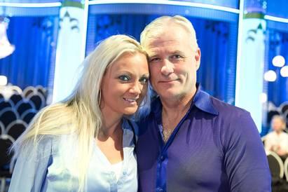 Glenn Hysén och Therese Skoglund innan uppbrottet