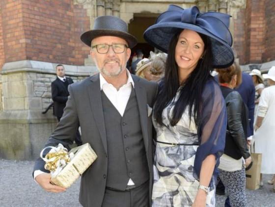 Jan Johansen med exflickvännen Maria På Tony Irvings bröllop