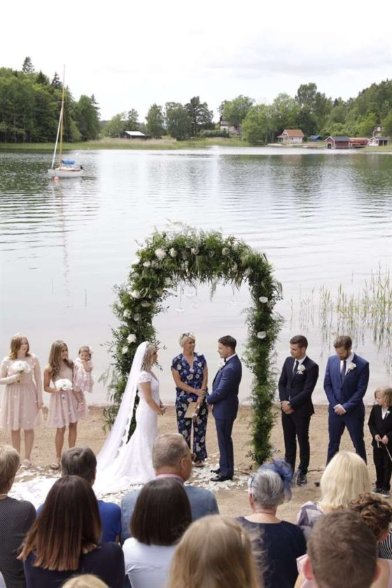 Camilla Läckberg och Simon Sköld gifta